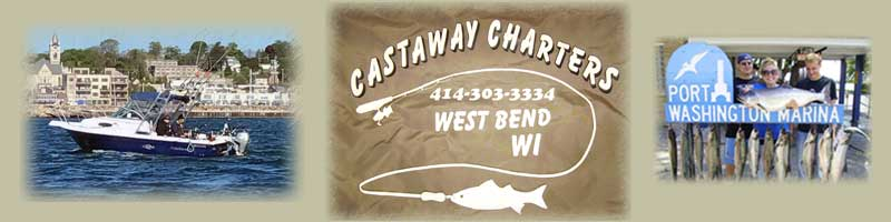Cast-A-Way Charters of West Bend, WI logo banner